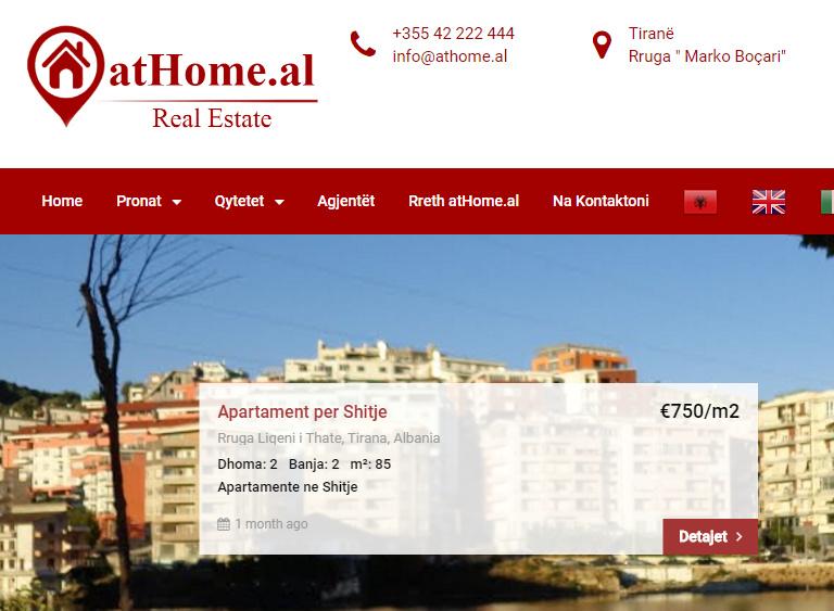 Progetto Sito Web atHome.al - web hiper
